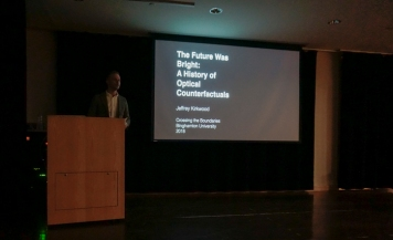 "Binghamton University's Dr. Jeffrey Kirkwood presents his Keynote talk: ""The Future Was Bright: A History of Optical Counterfactuality."""